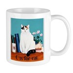 """""""C Is For Cat"""" Mugs"""