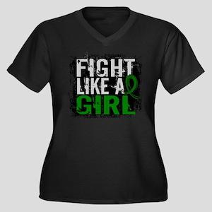Licensed Fig Women's Plus Size V-Neck Dark T-Shirt