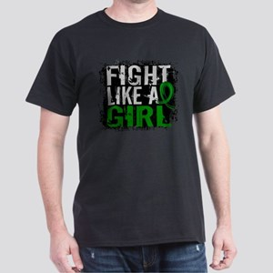 Licensed Fight Like a Girl 31.8 Cereb Dark T-Shirt