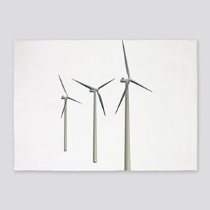 Wind Turbines 5'x7'Area Rug
