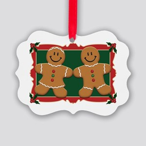 gingerbread_couple2 Picture Ornament