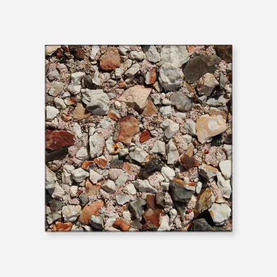 "Picture of Stones. Square Sticker 3"" x 3"""