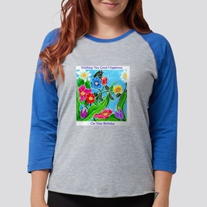 00flowers Womens Baseball Tee