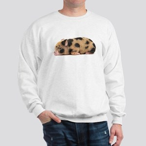 Micro pig sleeping Sweatshirt