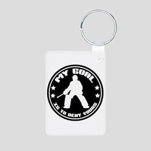 My Goal, Field Hockey Goalie Aluminum Photo Keycha