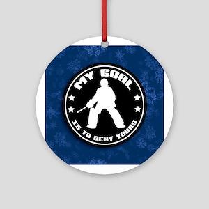 My Goal, Field Hockey Goalie Ornament (round)