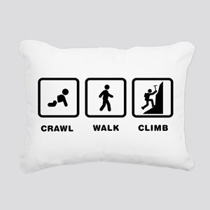 Mountain Climbing Rectangular Canvas Pillow