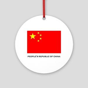 China Flag Stuff Ornament (Round)