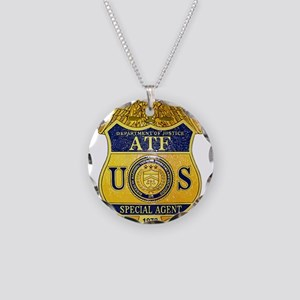 ATF badge Necklace Circle Charm