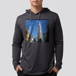 Transamerica Pyramid clock Mens Hooded Shirt