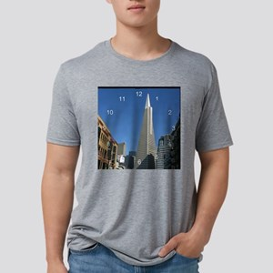 Transamerica Pyramid clock. Mens Tri-blend T-Shirt