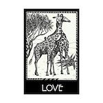 Love Giraffes By Mighty Xee Mini Poster Print