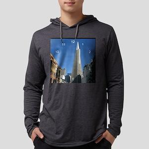 Transamerica Pyramid clock 2 Mens Hooded Shirt