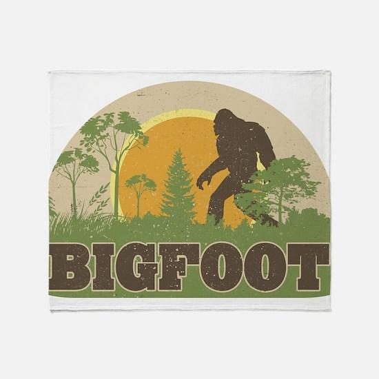 Bigfoot Throw Blanket