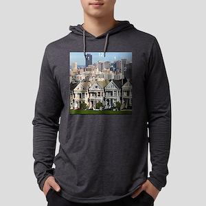 SF postcard row clock Mens Hooded Shirt