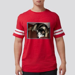Husky! Dog photo! Mens Football Shirt