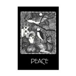 Moon Animals For Peace Mini Poster Print
