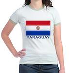 Flag of Paraguay Jr. Ringer T-Shirt
