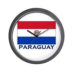 Flag of Paraguay Wall Clock