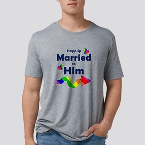 Married to Him Right Arrow Mens Tri-blend T-Shirt