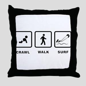Kitesurfing Throw Pillow
