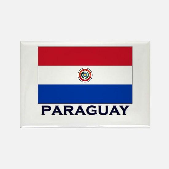 Paraguay Flag Stuff Rectangle Magnet
