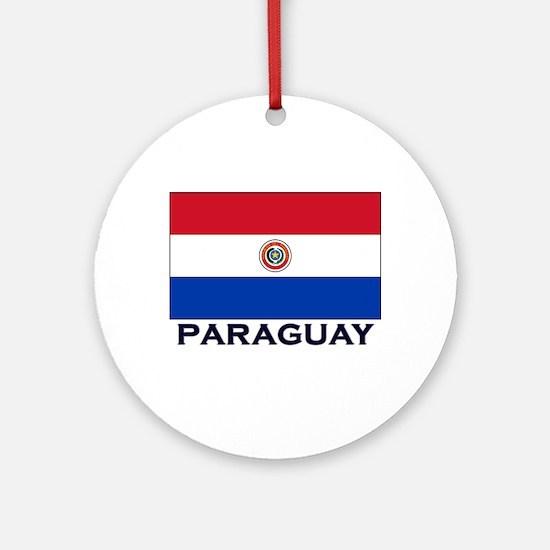 Paraguay Flag Stuff Ornament (Round)