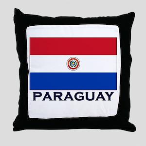 Paraguay Flag Stuff Throw Pillow