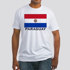 Paraguay Flag Stuff Fitted T-Shirt