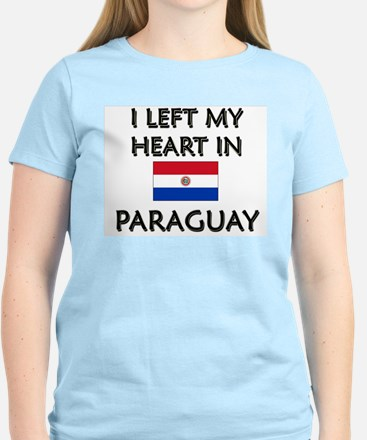 I Left My Heart In Paraguay Women's Pink T-Shirt