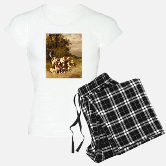 Vintage Basset Art Pajamas