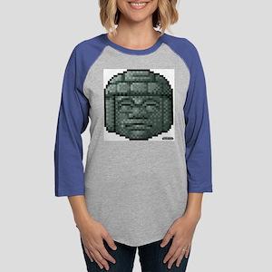 Olmec Head Creeper Womens Baseball Tee