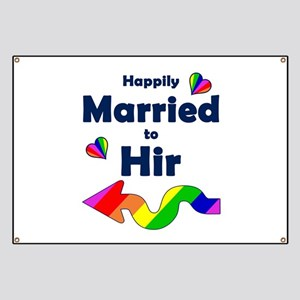 Married to Hir Left Arrow Banner