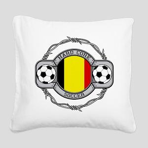 Belgium Soccer Square Canvas Pillow
