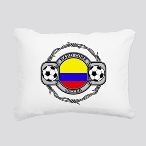 Colombia Soccer Rectangular Canvas Pillow