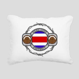 Costa Rica Football Rectangular Canvas Pillow