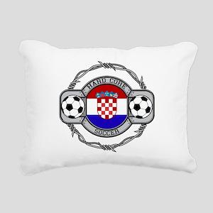 Croatia Soccer Rectangular Canvas Pillow
