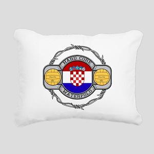 Croatia Water Polo Rectangular Canvas Pillow