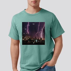 Seattle Lightening clock Mens Comfort Colors Shirt