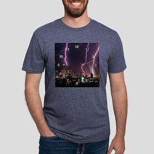 Seattle Lightening clock.pn Mens Tri-blend T-Shirt
