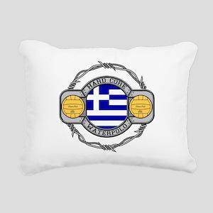 Greece Water Polo Rectangular Canvas Pillow