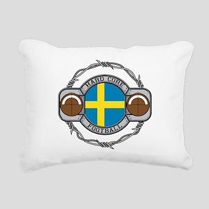 Sweden Football Rectangular Canvas Pillow