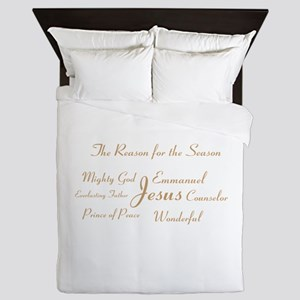 Jesus - the reason for the season Queen Duvet