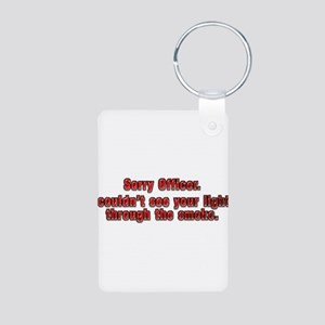Sorry Officer Aluminum Photo Keychain