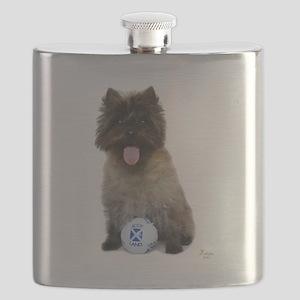 Cairn Terrier Football Scotland Flask