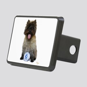 Cairn Terrier Football Sco Rectangular Hitch Cover