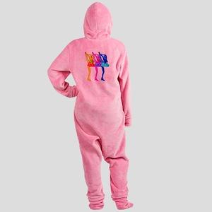 Skater Gurlz Footed Pajamas