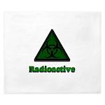 Green Radioactive Symbol King Duvet
