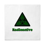 Green Radioactive Symbol Queen Duvet
