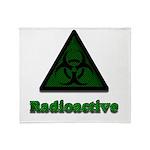 Green Radioactive Symbol Throw Blanket